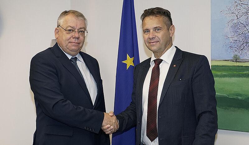 ECA President Klaus-Heiner Lehne and President of Slovenian Court of Audit Tomaž Vesel