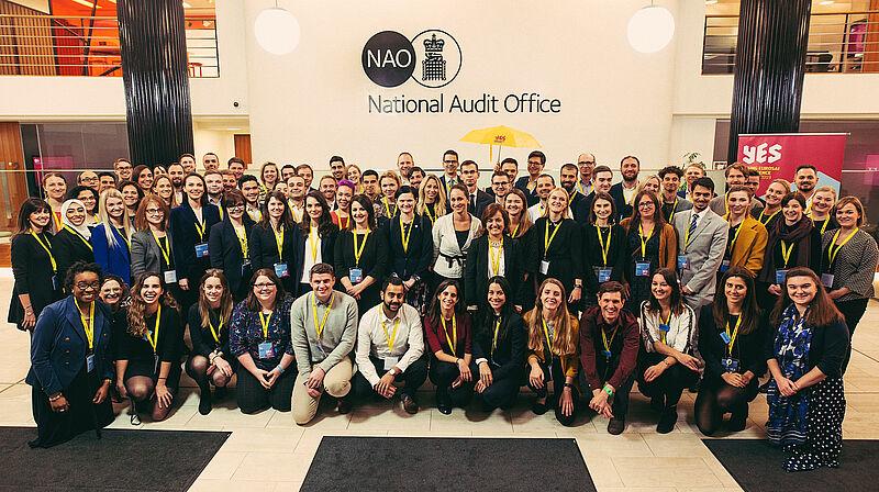 Skupinska fotografija udeležencev konference Young EUROSAI (YES) 2019