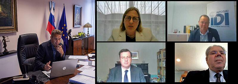 Med udeleženci spletnega seminarja je bil tudi predsednik računskega sodišča Tomaž Vesel