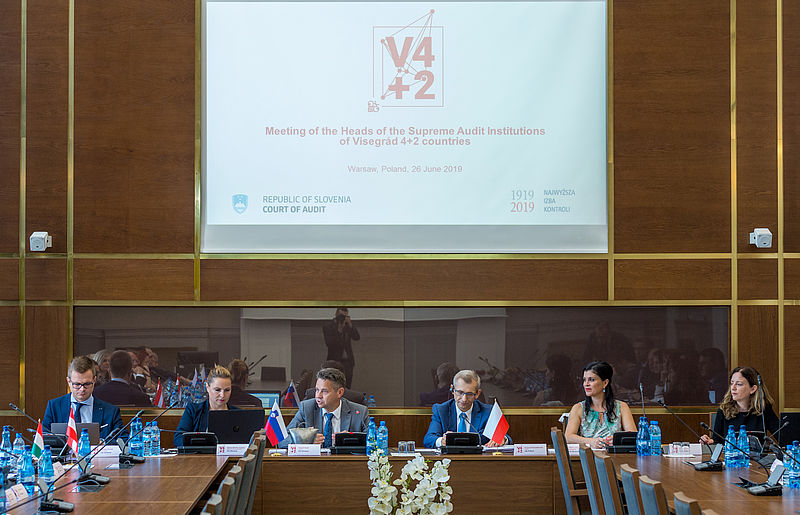 Delegacija računskega sodišča in predsednik VRI Poljske