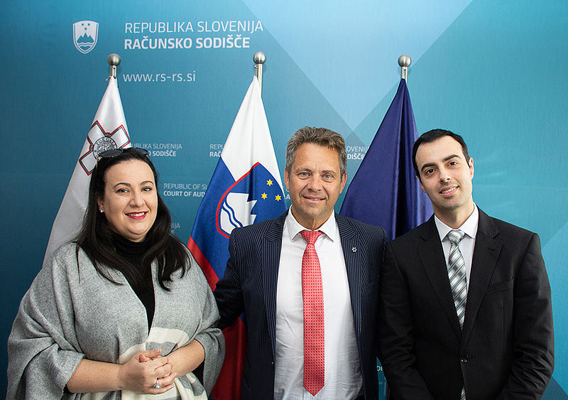 President of the Court of Audit with representatives of NAO Malta