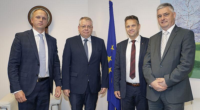 ECA Member Mihails Kozlovs, ECA President Klaus-Heiner Lehne, President of Slovenian Court of Audit Tomaž Vesel and ECA Member Samo Jereb