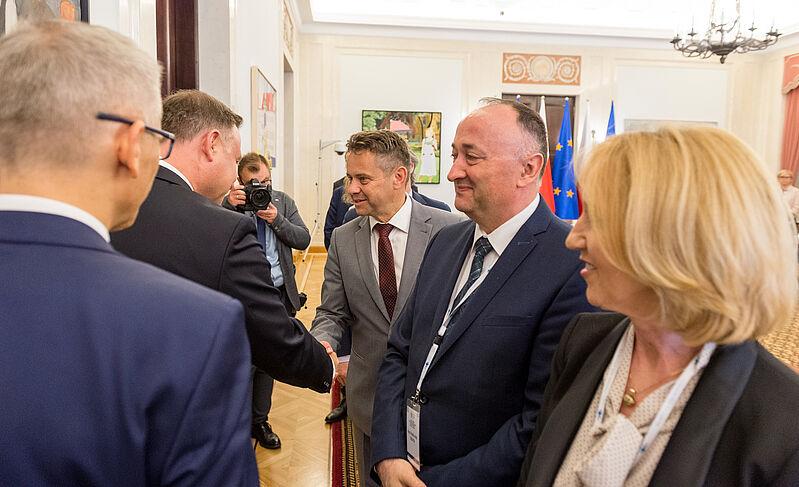 Srečanje predsednika računskega sodišča Tomaža Vesela s predsednikom Republike Poljske Andrzejem Dudo