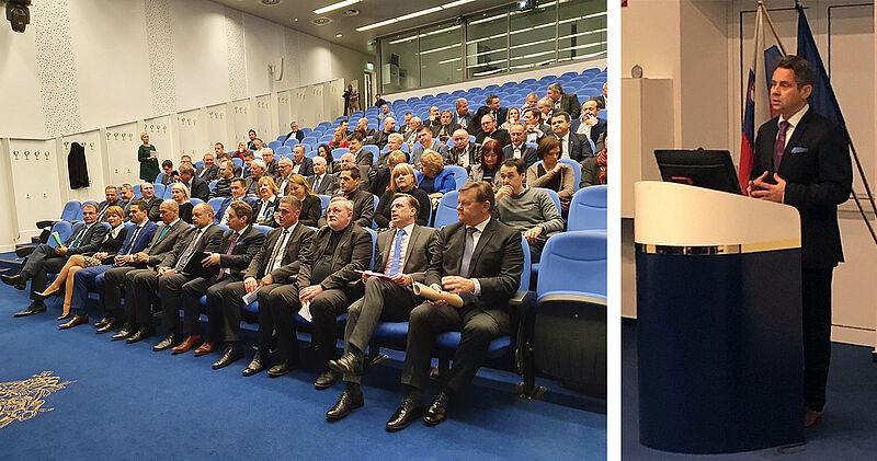Udeleženci srečanja in predsednik računskega sodišča Tomaž Vesel