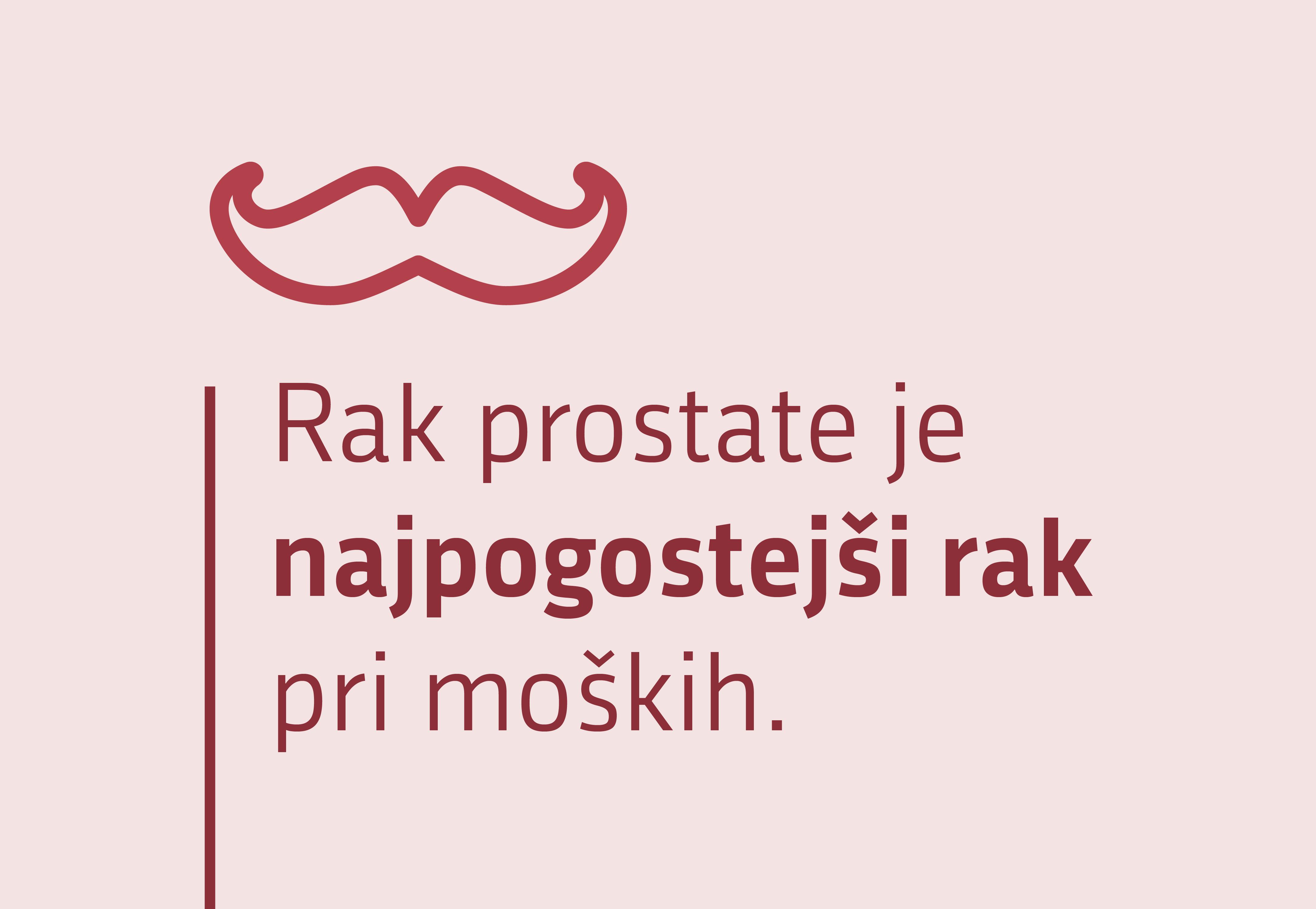 Rak prostate je najpogostejši rak pri moških