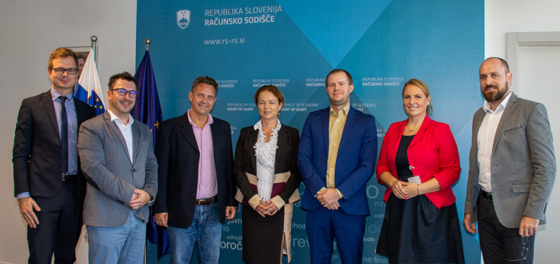 Participants of the working meeting with the President of SAI Slovenia Tomaž Vesel