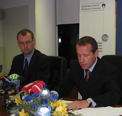 dr. Igor Šoltes, generalni državni revizor in mag. Jorg Kristian Petrovič, vrhovni državni revizor